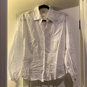 Loft Sz 14 White Dress Blouse